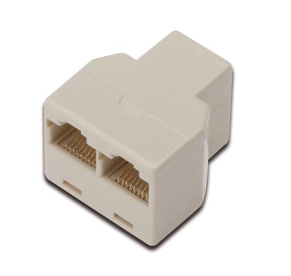 cat5e modular kupplung rj45 3fach t adapter lan dsl isdn 3 x buchse rj45 1 1 ebay. Black Bedroom Furniture Sets. Home Design Ideas